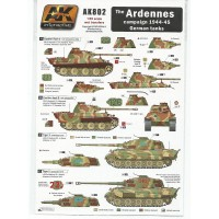 The Ardennes Campaign 1944 - 45 German Tanks Wet Transfer in 1:35