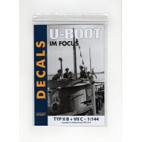 Decals U-Boot im Focus Typ II B + VII C in 1:144