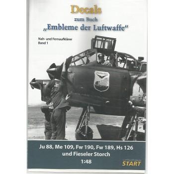Decals zum Buch Embleme der Luftwaffe Band 1 in 1:48