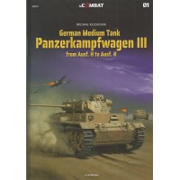 1,German Medium Tank Panzerkampfwagen III from Ausf. H to Ausf. N